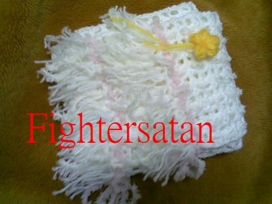 白圍巾-折疊