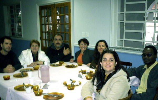 Amigos no Convento almoçando, rumo ao V FREPOP