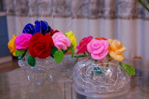 玫瑰花钩织 - 玲玲 - 心雨 的博客
